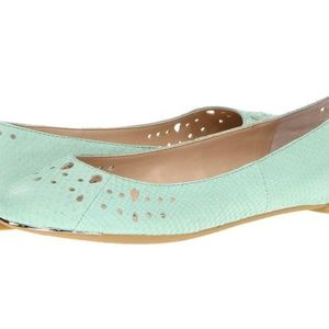 Sam Edelman - Mint Green Snakeskin Ballet Flats